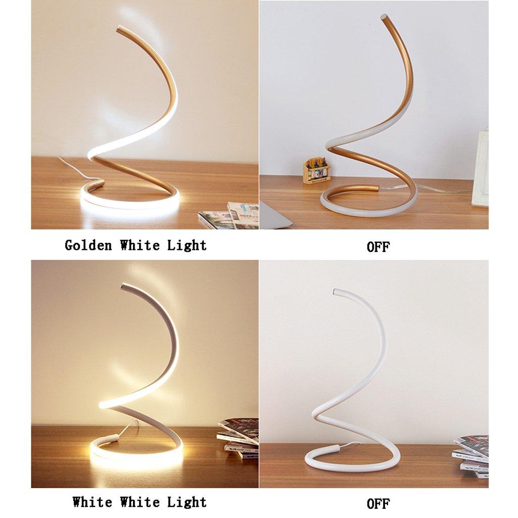 Homelx Spiral LED Tischlampe, moderne moderne moderne minimalistische warme weiße Design Curved LED Tischleuchte (Farbe   Gold-Warm light) B07FTJ2KFP | Kaufen Sie online  336fa0