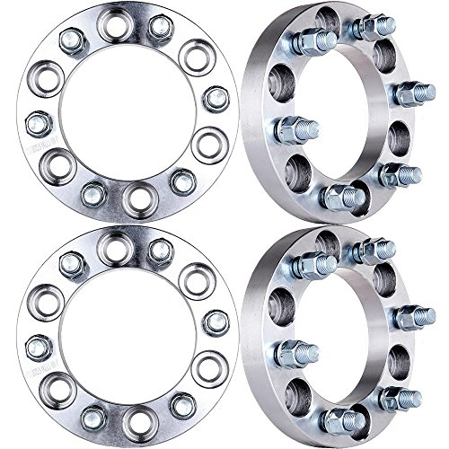 (ECCPP Replacement for 1 inch Wheel Spacer 6x5.5 to 6x5.5|6x139.7mm to 6x139.7mm 108mm for Acura SLX Isuzu Rodeo Toyota 4-Runner with 12x1.5 Studs(4X))