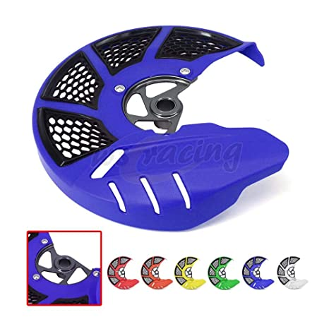 Motorcycle Front Brake Disc Rotor Guard Protector Blue for Yamaha YZF250