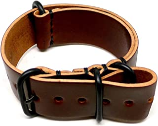 product image for DaLuca Shell Cordovan Military Watch Strap - Color 4 (PVD Buckle) : 20mm
