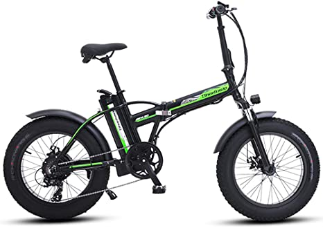 MEICHEN Bicicleta eléctrica de 20 Pulgadas 48V500W Bicicleta de ...