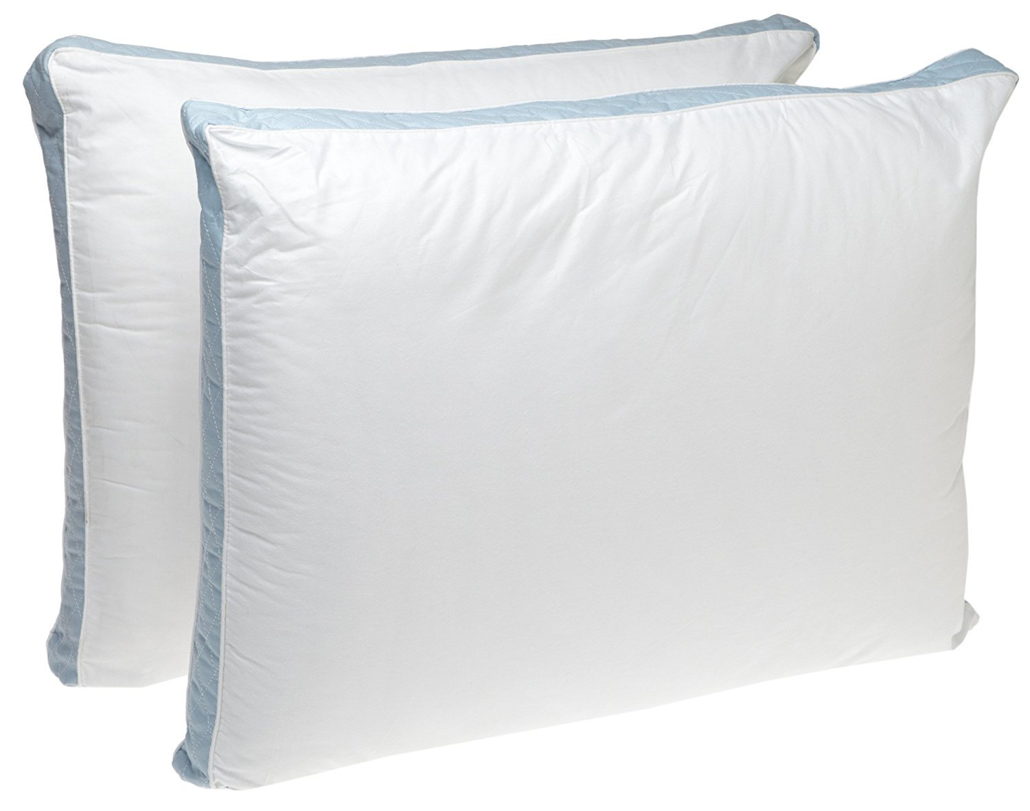 Perfect Fit | Gusseted Quilted Pilllow, Hypoallergenic, 233 Thread-Count, Extra Firm Density, Set of 2 (Side Sleeper, King) 715061