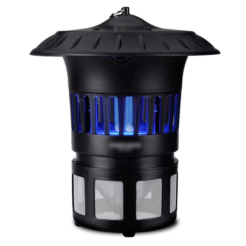 CAFUTY 蚊キラーランプ物理的な家庭用無放射光触媒蚊ランプ蚊忌避剤ザッパー (色 : 黒) B07S89YXC9 黒