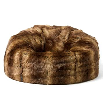 63fe68795e7 icon Faux Fur Bean Bag Chair - Brown Bear - Extra Large, 84cm x 70cm ...