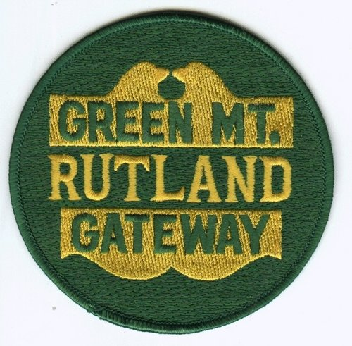 (Railroad 100% Embroidered Patch Collectible -Green Mountain Rutland Gateway)