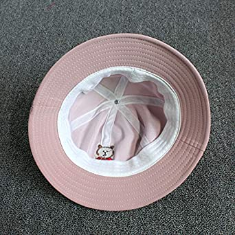 ACVIP Girls Bear Embroided Dacron Sun Protection Bucket Hat