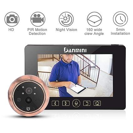 3.0 Digital Door Peephole Viewer Camera Lcd Color Screen Doorbell Viewer Door Eye Video Record 160 Degrees Night Vision Damini Hardware