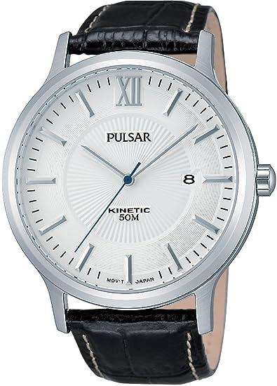 Pulsar Hombre Reloj de Pulsera analógico Cuarzo Piel PAR187 X 1: Amazon.es: Relojes
