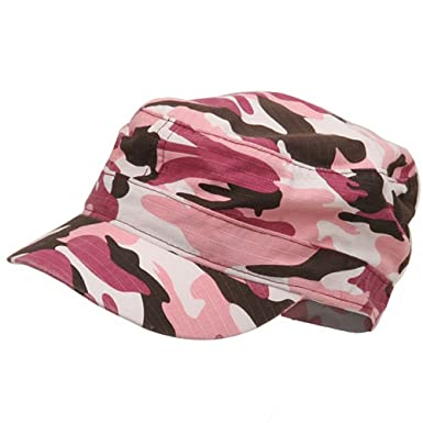 c29dbee0 Fitted Cotton Ripstop Army Cap-Pink Camo L-XL: Amazon.co.uk: Clothing