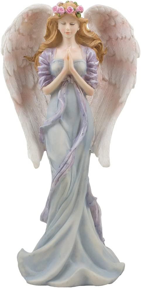 Decorative Standing Angel in Prayer Statue for Christian & Religious Decor Sculptures and Figurines or Spiritual Easter and Christmas Decorations As Inspirational Holiday Gifts for Girls Bedroom