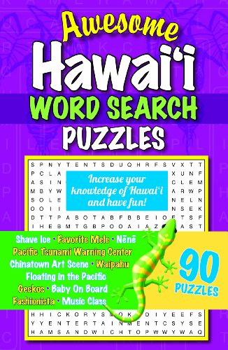 Awesome Hawaii Word Search Puzzles