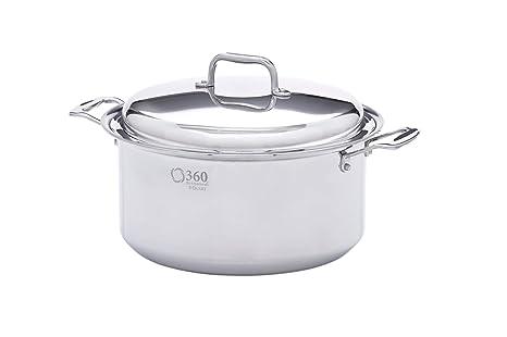 Amazon.com: 360 Utensilios de cocina olla con tapa de acero ...