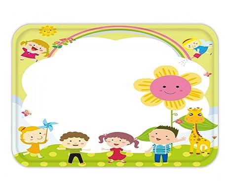 Amazon.com : Beshowere Doormat cute frame with kids : Garden & Outdoor