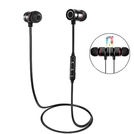 Auriculares Bluetooth, HENGKEXIN Magnéticos Casco Bluetooth 4.1 Auriculares Deportivos Inalámbricos con Mic, estéreo,