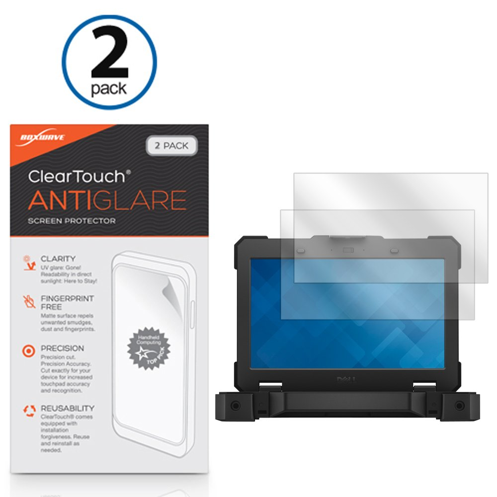 Dell Latitude 14 Rugged Extreme Screen Protector, BoxWave [ClearTouch Anti-Glare (2-Pack)] Anti-Fingerprint Matte Film Skin for Dell Latitude Rugged 14 Extreme