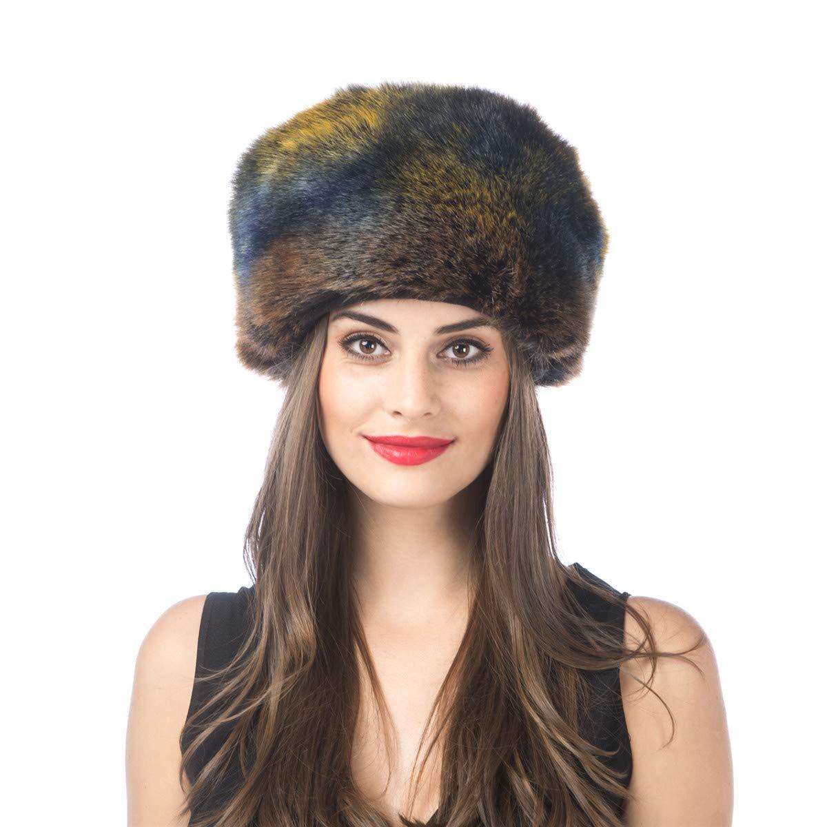 H1dazzle Colour Lucky Leaf Women Men Winter Thick Fur Russian Hat Warm Soft Earmuff