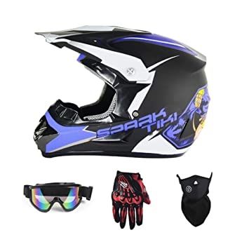 Homesave Cascos Off-Road Punto Dirt Bike Motocross Adulto,M