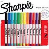 Sharpie Ultra Fine Point Permanent Markers, 12 Colored Markers