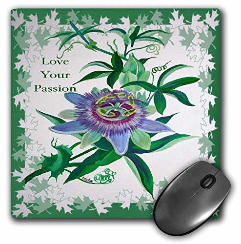 - 3dRose Taiche - Greeting Card - Love Your Passion - Passion Flower- gifts for gardeners, birthday, ideas, wildflower, tennessee - MousePad (mp_78728_1)