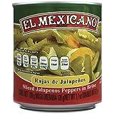 El Mexicano Chiles Jalapeños Rajas, picante, 220 g