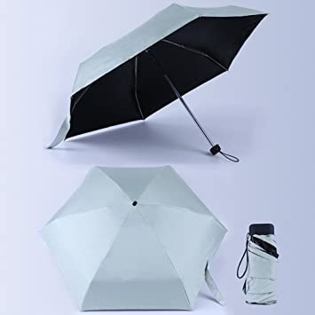 Morehappy7 Paraguas ultraligero de tamaño mini de bolsillo, 5 paraguas plegable resistente al viento y a