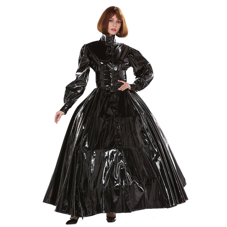 Amazon.com: GOceBaby Gothic Punk Cool Black PVC Ball Gown Dress ...