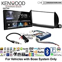 Volunteer Audio Kenwood DMX7704S Double Din Radio Install Kit with Apple CarPlay Android Auto Bluetooth Fits 2002-2004 Nissan Altima (With Bose)