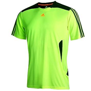 4b1cf38dc adidas ClimaCool Mens Hi-Viz Short Sleeve Running Top - M: Amazon.co.uk:  Sports & Outdoors