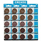 JOOBEF CR2450 Lithium 3V Battery, Electronic Coin Cell Button for Toys Calculators Watches (20 Pcs)