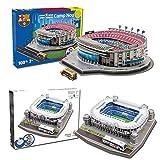 [Nanostad 2 pieces] FC Barcelona (Camp Nou) and Real Madrid (Santiago Bernabeu) stadium 3D puzzle set of 2