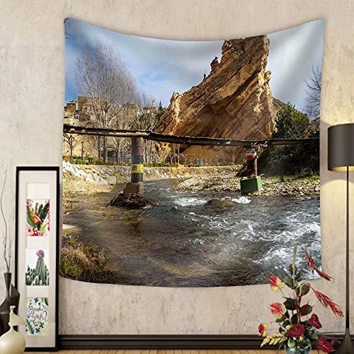 Niasjnfu Chen Custom tapestry Scenic Landscape at Autol Logrono Castilla Y Leon Spain - Fabric Wall Tapestry Home Decor by Niasjnfu Chen