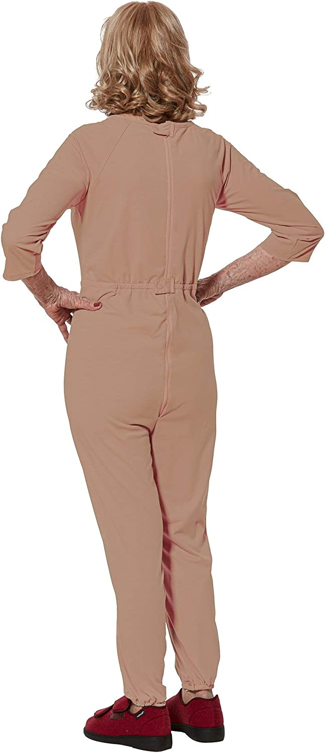 Adaptive Clothing Senior Disabled Women Alzheimers Jumpsuit Onesie with Zipper Carrie