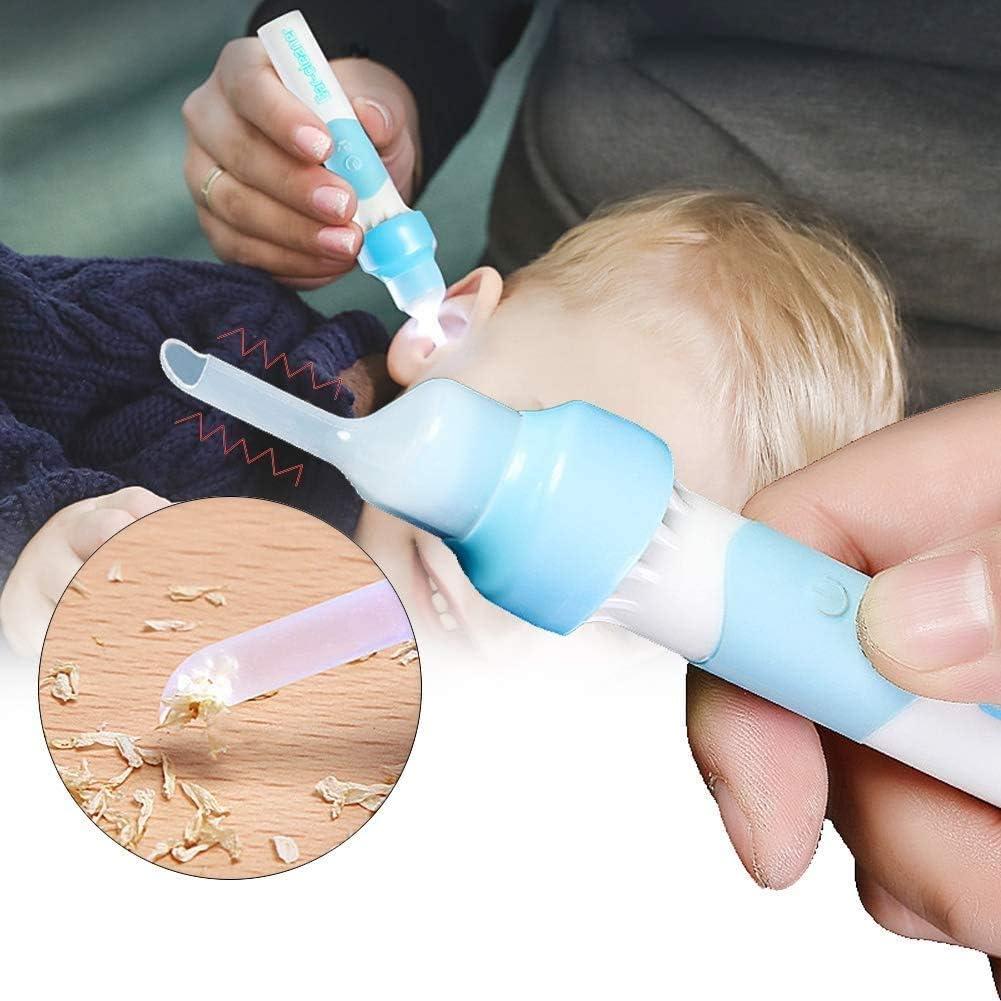 Higiene Oreja de vacío eléctrica eliminación de la cera con el Kit de  herramientas de repuesto Soft 2 Cap eléctrico de succión cerumen  Herramientas de eliminación Set con luz LED para niños