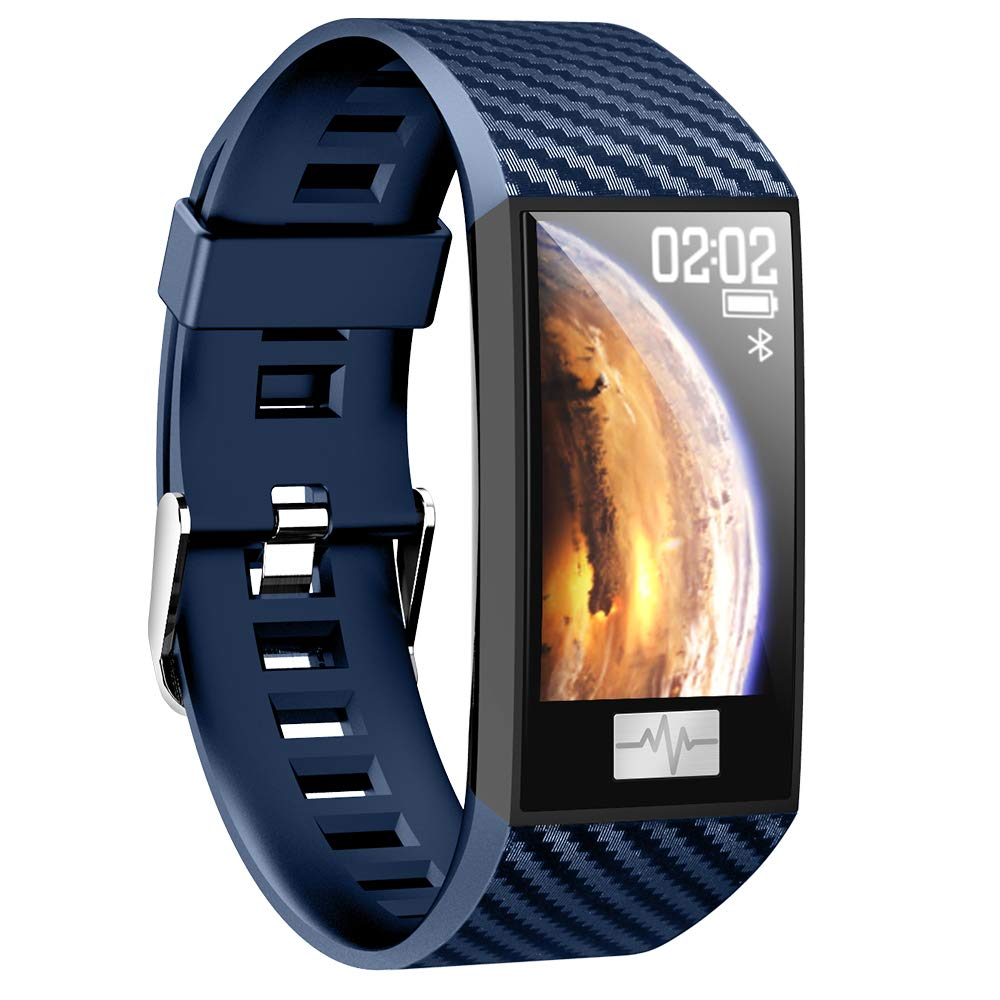 Fitness Tracker Slim, TechCode IP68 Waterproof Activity Watch Colorful Screen Step Counter Pedometer Wristband Multi-sports Mode Watch Lightweight Smart Sleep Monitor Bracelet for Kids Women Men, Blue