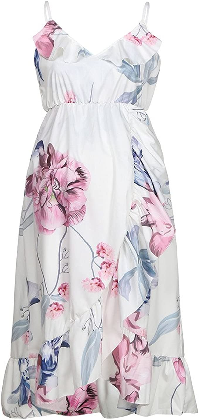 Fashion Womens Mother Casual Floral Falbala Pregnant Dress For Maternity Clothes At Amazon Women S Clothing Store