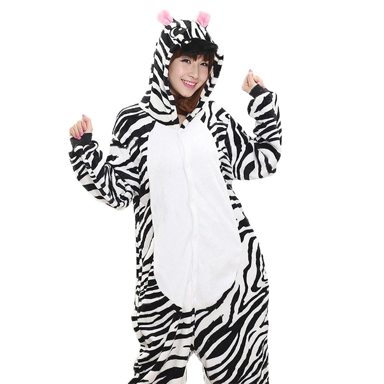 Women's Zebra Onesie Adult Pajamas Cosplay Costume