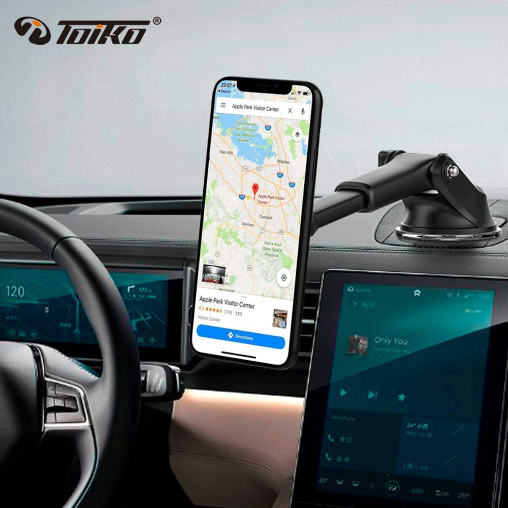 Phone Holder Compatible with All Smartphones Toiko Car Phone Mount Car Mount for Cell Phone Phone Holder for Car Dashboard Smartphone Car Mount Magnetic Car Mount