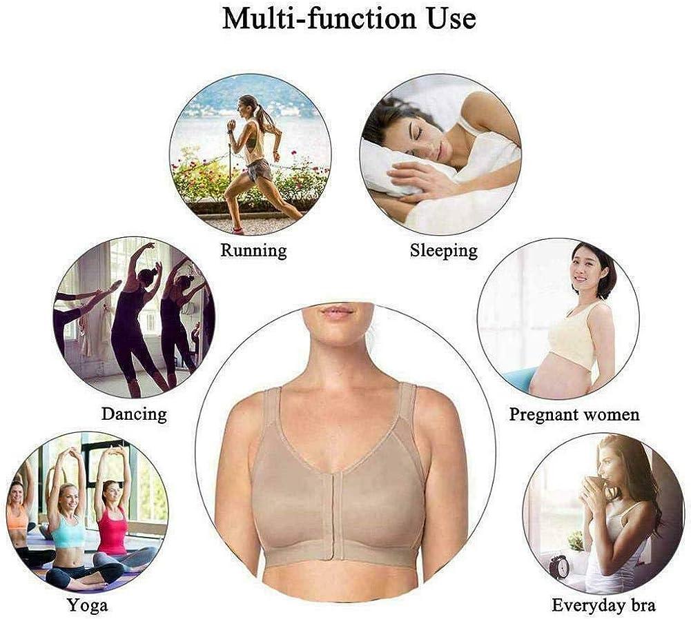 Qishun Reggiseno Postura Donna Correttore Postura Reggiseno Wireless Chiusura Frontale Regolabile Comfort Completo Sport Yoga Reggiseno per Il Sonno Senza Imbottitura