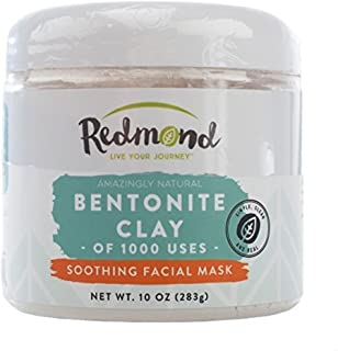 product image for Redmond Clay - Bentonite Clay of 1000 Uses, Soothing Facial Mask, 10 Ounce (2 Pack)