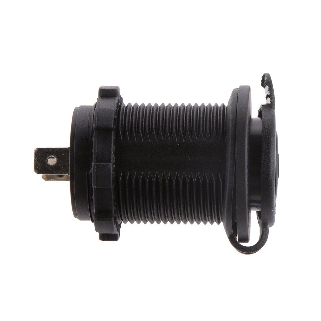 Waterproof 12v 24v Car Cigarette Lighter Socket Usb Charger Power Wiring A Plug Adapter Outlet Motorbike