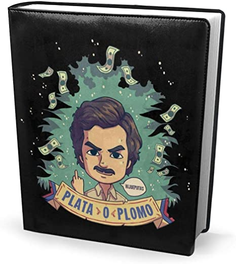 Book Cover 9x11in Plata O Plomo Pablo Escobar Narcos Perfectly Stretchable Washable Practical Reusable No Slip Supply For Students Amazon Co Uk Office Products