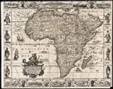 Historic Map | 1658 A new, plaine, & exact mapp of Africa : described by N.I. Visscher and done into English, enlarged and corrected, according to I. Blaeu | Antique Vintage Reproduction