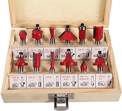12pcs 8mm Juego de fresas de carburo cementado fresado de máquina de grabado bits con caja de madera: Amazon.es: Bricolaje y herramientas