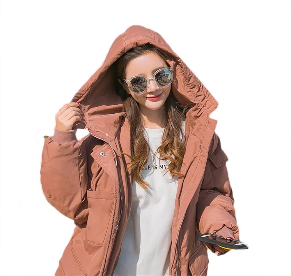 mujer invierno largo acolchado capa casual encapuchado sobredimensionado ropa de calle, S-L