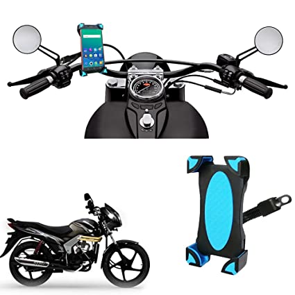 Vheelocityin Mirror Attachment Bike Mobile Holder For Mahindra
