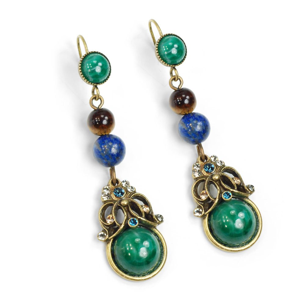 Tranquility Vintage Glass Earrings
