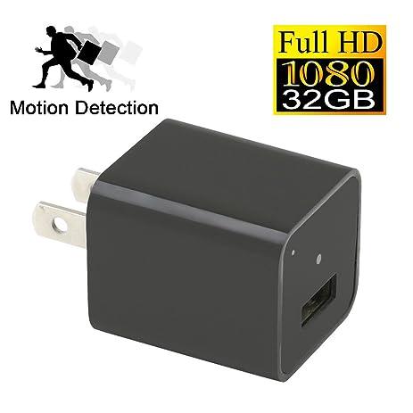 YYCAMUS 1080P HD USB Wall Charger Hidden Spy Camera Nanny Adapter