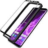 L K Schutzfolie Panzerglas für Samsung Galaxy S9, [9H Härte] [3D Abgerundete][Vollständige Abdeckung][Einfache Installation][hüllenfreundlich] Gehärtetem Glas Displayschutzfolie - Schwarz