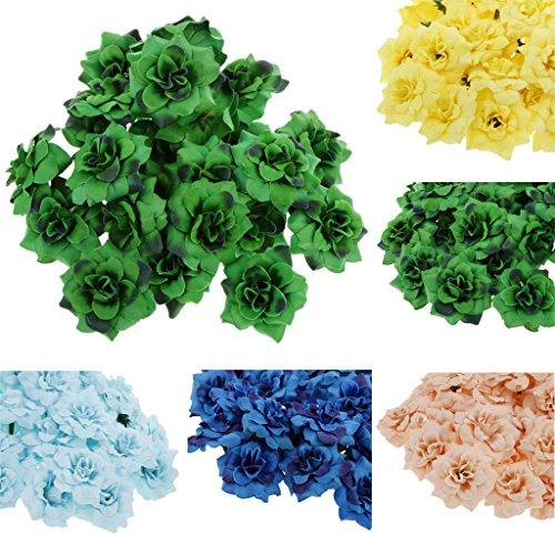 50PCS Artificial Silk Stapelia Flower Heads Bulk Wedding Party Decor Apricot