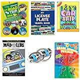 Travel Toys and Travel Games for Kids in Car and Plane | Best Seller's - Mad Libs, National Geographic Kids Atlas Book, License Plate Game, Travel Journal Diary, Brain Teasers, Flippy Chain Fidget Toy